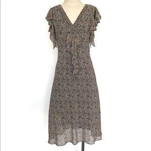 MSK Animal Print Short Sleeve Midi Dress